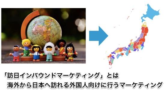 訪日インバウンドマーケティングとは、海外から日本へ訪れる外国人向けに行うマーケティングのことです。