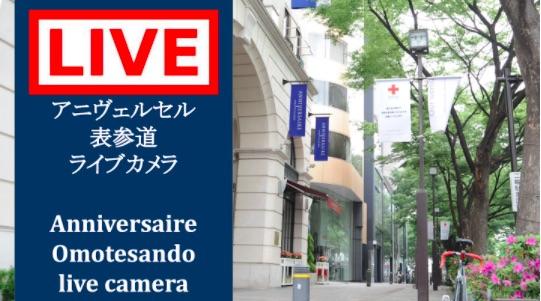 表参道ライブカメラによるYouTubeライブ配信を開始